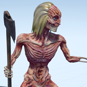 Character is perfect to play evil NPC monster for a first person or 3rd person game.
