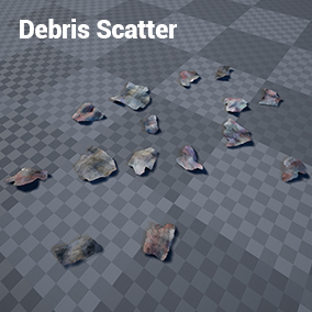 Simple debris scattering adding interest to your scene.