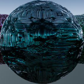 PBR material with high resolution (2048x2048): 43 colored glass.