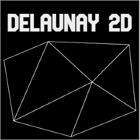Delaunay 2D Plugin provides a fast, multi-threaded and reliable way to generate 2D Delaunay triangulation.