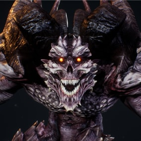 Realistic animated demon for your horror or fantasy games