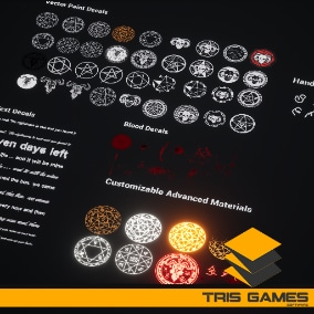 Horror Decal Pack 2 / AI SOURCES - Advanced customizable decal pack,these materials contain high quality.