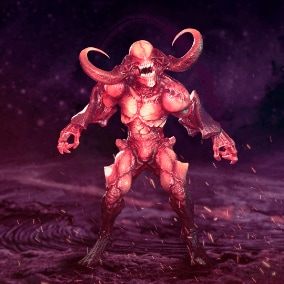The low-poly model of Demon is perfect for horror games, as well as RPG games, strategy games and shooters.
