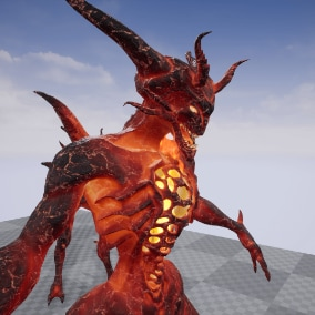 Demon low poly model