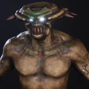 Creature character Demon Mutant. Has Epic Skeleton. Has 5 skins. Nice addition to your horror\survival etc game
