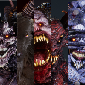 Realistic animated demons for your horror or fantasy games