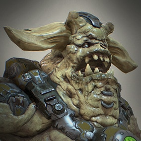 Demon soldier,heavy armored trooper. Defiler unit