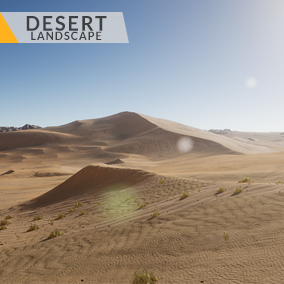 This content includes highly detailed 64 km2 (8x8 km) desert landscape.