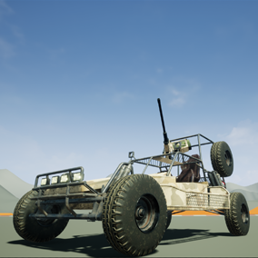 Driveable buggy with weapon, and three skins, weapon can be detached