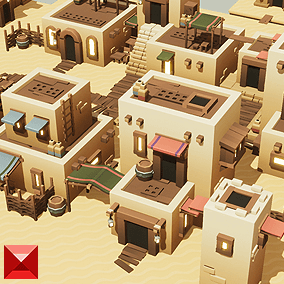 This is a modular construction kit for a toon style desert town