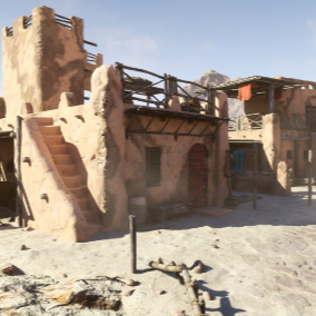Collection of assets to build desert town.