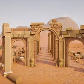 Desert of Palmyra ruins