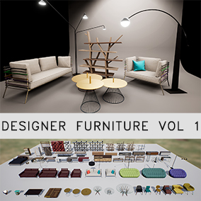 68 designer furniture meshes for your visualization needs. Optimized for Realtime.