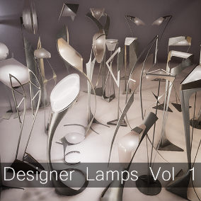 A set of 31 highly customizable interior designer lamps.