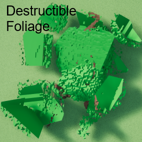 Configure your own destructible foliage through the included example projects. A provided instruction will help you implement it quickly and easily.