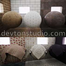 36 Materials with 123 seamless 4k textures.