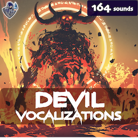 A devil vocalization sound library with 164 high-quality monster sound effects, ready for use in the video game and trailer.