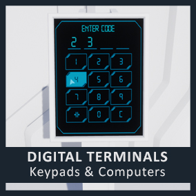 Auto focusing terminals for door locks, emails, and more.