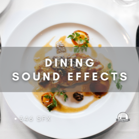 A collection of 346 dinner sound effects.