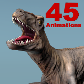 Velociraptor Skeletal Mesh with 45 animations set