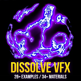 Dissolve VFX Pack is dissolve related visual effects and materials.