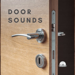 A collection of 100 opening, closing, locking, unlocking and more door sounds.