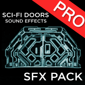The Sci-fi doors sound effects pack contains 22 high quality SFX. Small, medium, large, and huge doors and gates sounds for your science fiction, futuristic game, FPS or another genre! Great for spaceships or space station doors