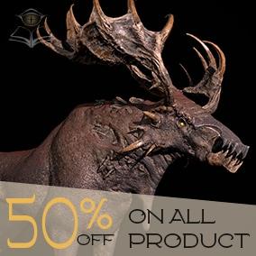 Game-Ready Dragon Moose model