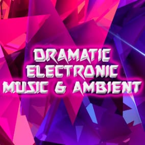 Dramatic action music tracks and slow ambient versions with industrial, electronic feel.