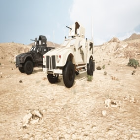 Drivable Armored Vehicle with realistic engine sounds and fully functioning machine gun and Turret.