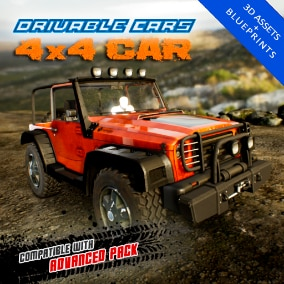 GTA style off-road 4 wheel drive car, including 4 LOD levels. Compatible with Advanced Pack