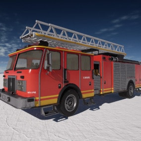 Drivable Firetruck with working ladder