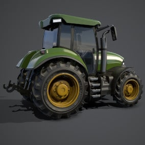 Drivable tractor with lights, custom dirt and coloring.