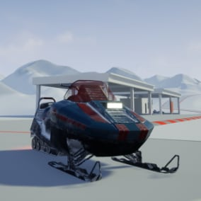 Driveable Snowmobile four skins, to choose from