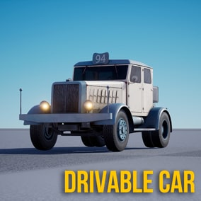 "Drivable car ""Retro truck"""