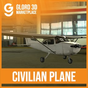 Civil Plane / Prop Pack with 4K textures. Glord 3D is a digital media company that sells 3D models used in 3D graphics to a variety of industries, including computer games, architecture, and interactive projects.