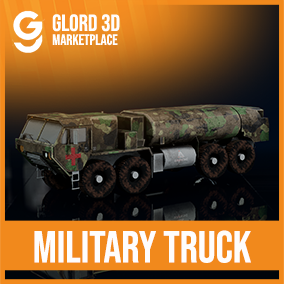 Driveable Military Truck with 4K textures. Glord 3D is a digital media company that sells 3D models used in 3D graphics to a variety of industries, including computer games, architecture, and interactive projects.