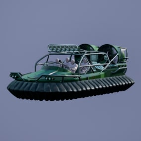 Driveable Hovercraft . Fully rigged and animated.Multiplayer ready.