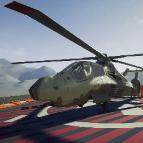 Fully working attack helicopter with working turret, rocket pods, guided hellfire and stingers