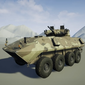 Fully working 8x8 wheeled Light Armored Vehicle,  with weapons