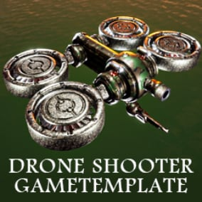 Drone shooter game template, mesh and material customization system, infinite variation of drones