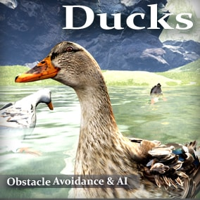 Animals for your game environments by Living Systems. Add interactive Ducks to your game environments. Drag and drop easy. Built in obstacle and enemy avoidance. Water Interaction.