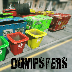 28 dumpster BP with 4 LOD stages and one material per model.