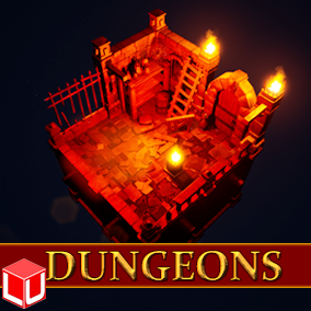 Modular Environment Pack for the Creation of Dungeon Areas.
