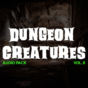 High quality Audio Files for your Dungeon Creatures!