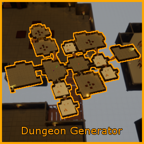 Dungeon Generator allows you to quickly generate a complete dungeon while keeping great control over the generation.
