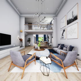 The name of this high-quality architectural visualization project is DuplexApartment