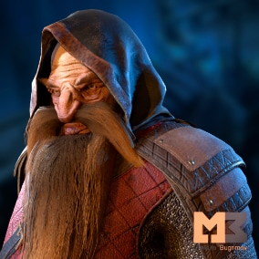 Great fantasy character. The character will perfectly complement your project