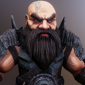 Dwarf character for RPG / Fantasy games.