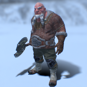 The dwarf, the killer of a thousand orcs is always ready for battle